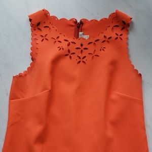 J Crew Orange Cut Out Dress